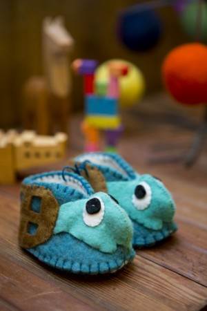 Felted baby slippers - Upper Lake Mercantile